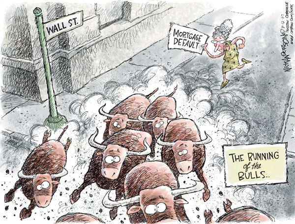 Nick Anderson  Nick Anderson's Editorial Cartoons 2007-08-12 stock market