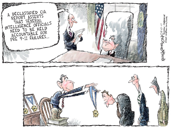 Cartoonist Nick Anderson  Nick Anderson's Editorial Cartoons 2007-08-23 bush