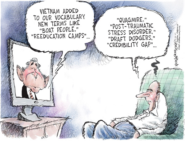 Cartoonist Nick Anderson  Nick Anderson's Editorial Cartoons 2007-08-26 bush
