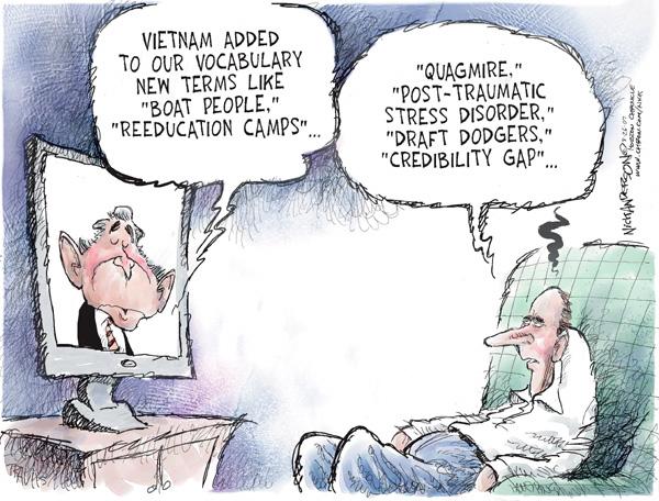 Cartoonist Nick Anderson  Nick Anderson's Editorial Cartoons 2007-08-26 Vietnam War