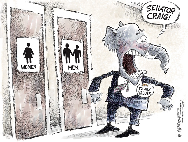 Cartoonist Nick Anderson  Nick Anderson's Editorial Cartoons 2007-08-29 republican politician