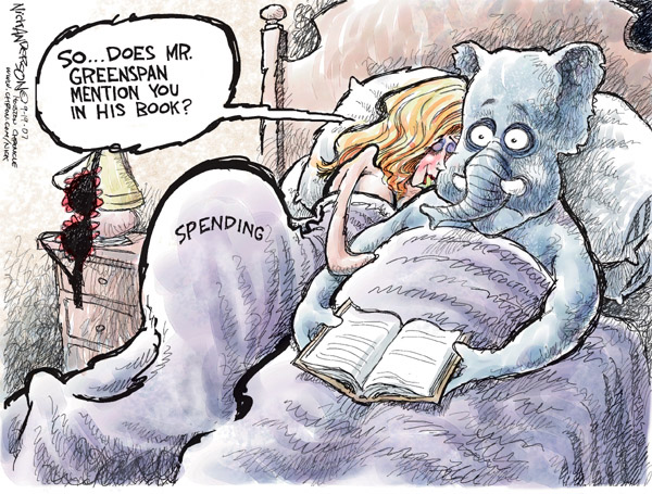 Cartoonist Nick Anderson  Nick Anderson's Editorial Cartoons 2007-09-19 republican politician