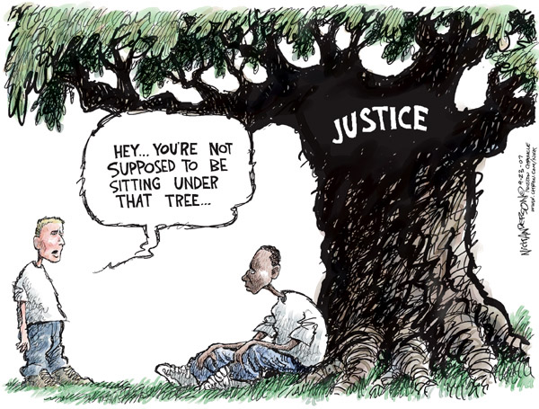 Nick Anderson  Nick Anderson's Editorial Cartoons 2007-09-23 judicial inequality