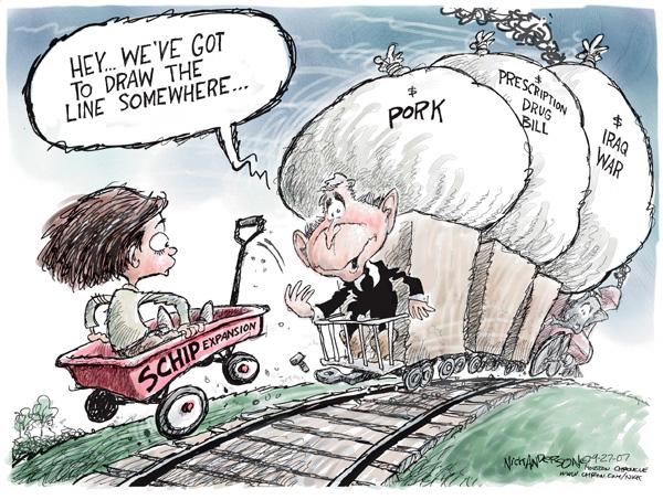 Nick Anderson  Nick Anderson's Editorial Cartoons 2007-09-27 train