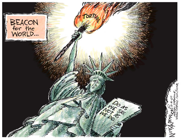 Cartoonist Nick Anderson  Nick Anderson's Editorial Cartoons 2007-10-10 bush