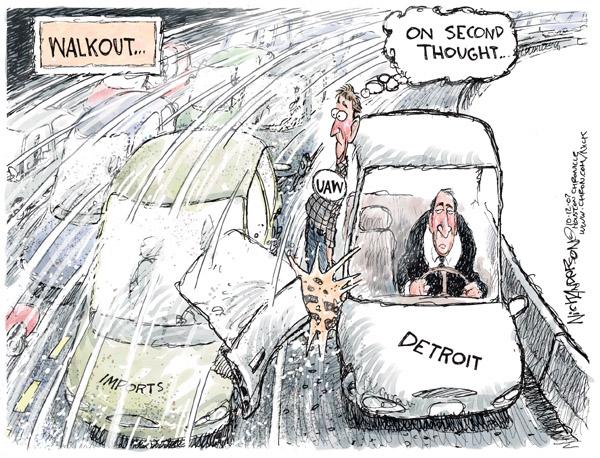 Cartoonist Nick Anderson  Nick Anderson's Editorial Cartoons 2007-10-12 automotive