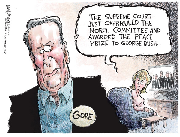 Nick Anderson  Nick Anderson's Editorial Cartoons 2007-10-14 2000 election Supreme Court