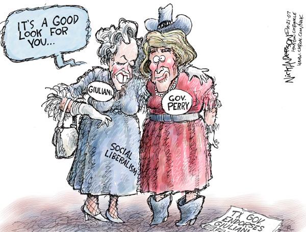 Cartoonist Nick Anderson  Nick Anderson's Editorial Cartoons 2007-10-21 Texas governor