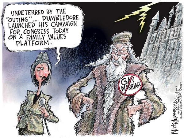 Cartoonist Nick Anderson  Nick Anderson's Editorial Cartoons 2007-10-24 family values