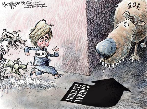Cartoonist Nick Anderson  Nick Anderson's Editorial Cartoons 2007-11-01 democratic party