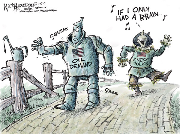 Cartoonist Nick Anderson  Nick Anderson's Editorial Cartoons 2007-11-15 demand