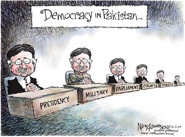 Cartoonist Nick Anderson  Nick Anderson's Editorial Cartoons 2007-11-07 separation of powers