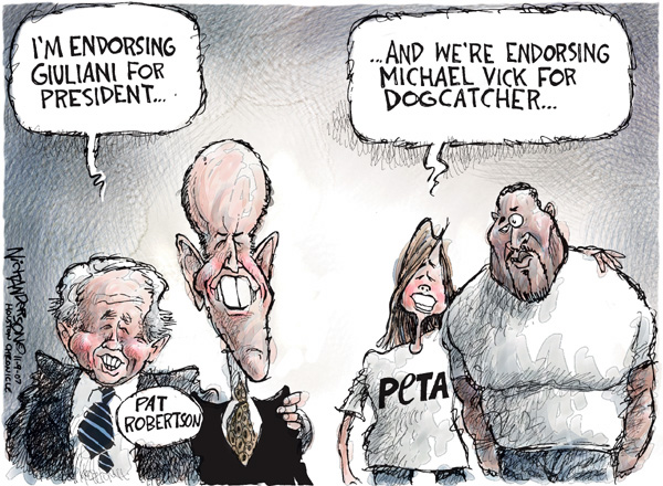 Nick Anderson  Nick Anderson's Editorial Cartoons 2007-11-09 Rudy Giuliani