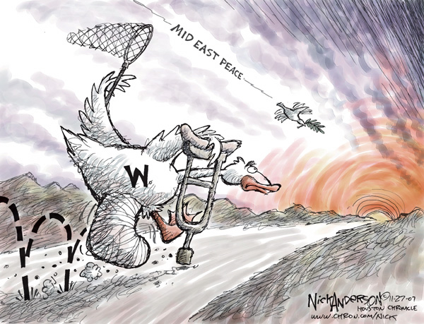 Cartoonist Nick Anderson  Nick Anderson's Editorial Cartoons 2007-11-27 bush