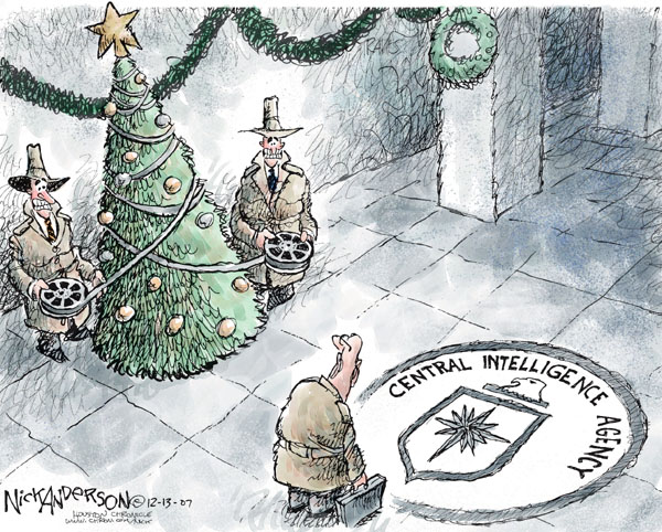 Cartoonist Nick Anderson  Nick Anderson's Editorial Cartoons 2007-12-13 CIA