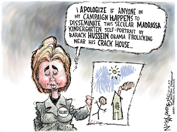 Cartoonist Nick Anderson  Nick Anderson's Editorial Cartoons 2007-12-19 presidential candidate