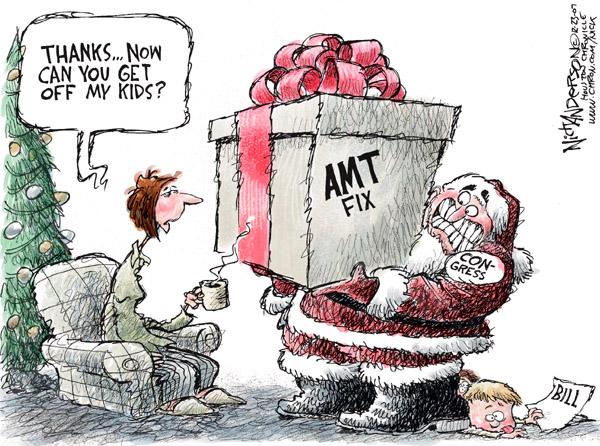 Cartoonist Nick Anderson  Nick Anderson's Editorial Cartoons 2007-12-20 minimum tax