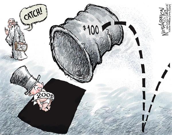 Cartoonist Nick Anderson  Nick Anderson's Editorial Cartoons 2008-01-03 New Year