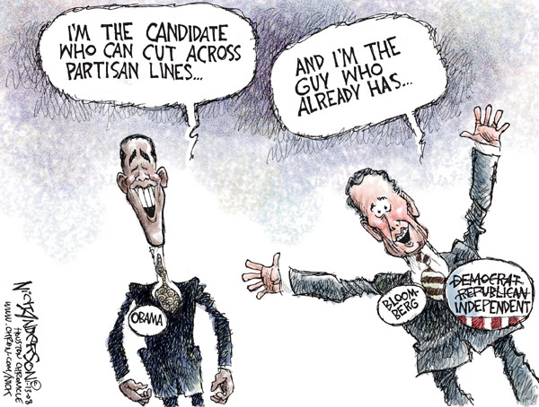 Cartoonist Nick Anderson  Nick Anderson's Editorial Cartoons 2008-01-13 presidential candidate
