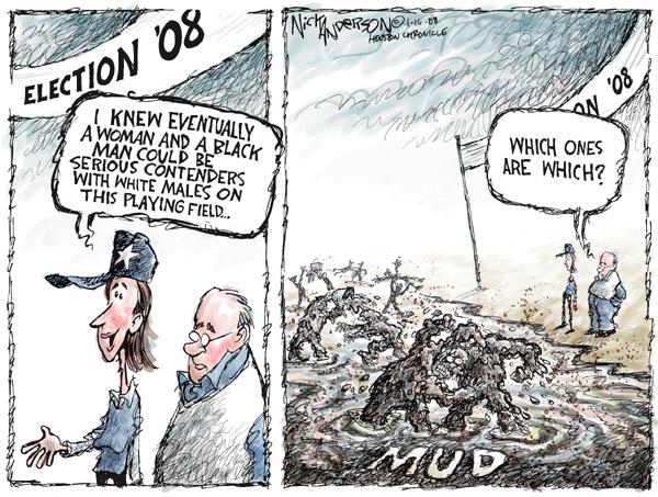 Nick Anderson  Nick Anderson's Editorial Cartoons 2008-01-16 racism