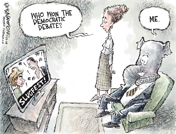 Cartoonist Nick Anderson  Nick Anderson's Editorial Cartoons 2008-01-23 republican debate