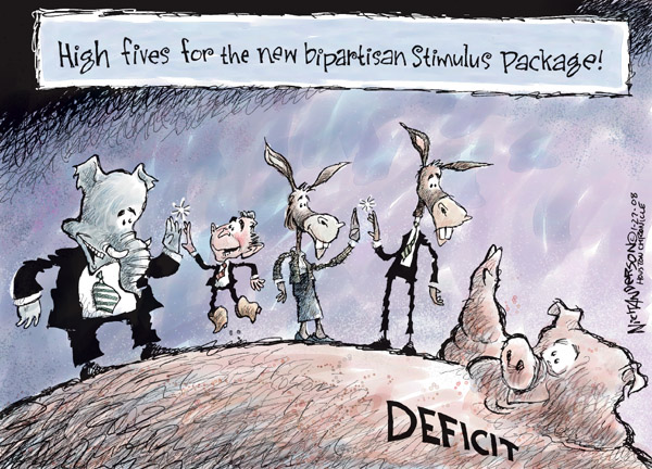 Cartoonist Nick Anderson  Nick Anderson's Editorial Cartoons 2008-01-27 republican politician