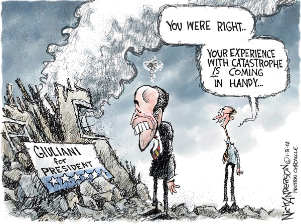Nick Anderson  Nick Anderson's Editorial Cartoons 2008-01-31 Rudy Giuliani