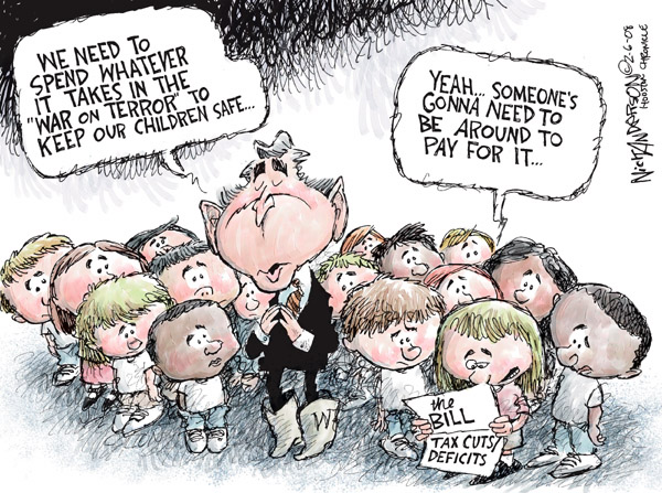 Cartoonist Nick Anderson  Nick Anderson's Editorial Cartoons 2008-02-06 bush