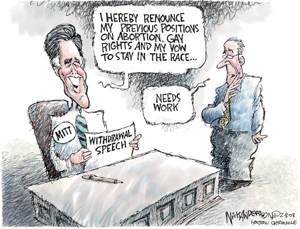 Cartoonist Nick Anderson  Nick Anderson's Editorial Cartoons 2008-02-08 inconsistency