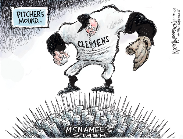 Cartoonist Nick Anderson  Nick Anderson's Editorial Cartoons 2008-02-10 injection