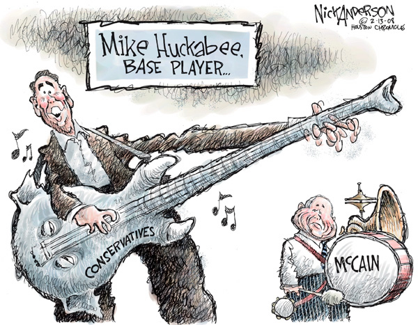 Nick Anderson  Nick Anderson's Editorial Cartoons 2008-02-13 Mike Huckabee