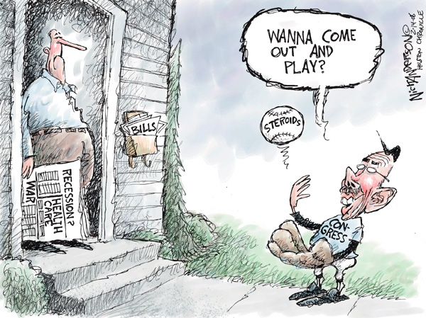 Cartoonist Nick Anderson  Nick Anderson's Editorial Cartoons 2008-02-14 Congress and Iraq