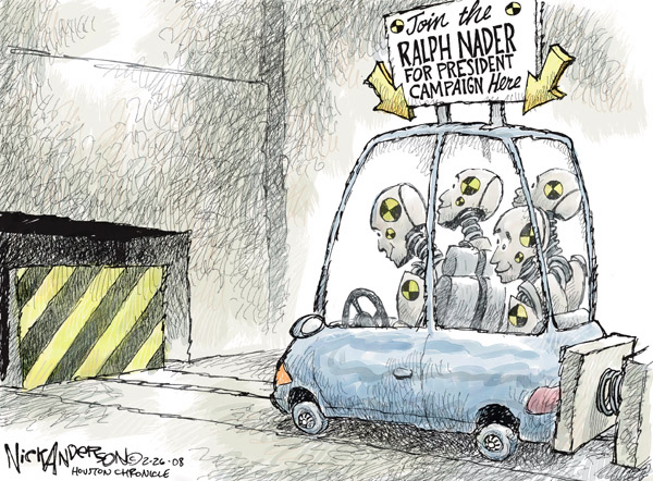 Cartoonist Nick Anderson  Nick Anderson's Editorial Cartoons 2008-02-26 presidential candidate