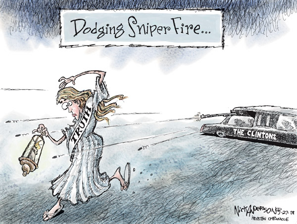 Cartoonist Nick Anderson  Nick Anderson's Editorial Cartoons 2008-03-27 presidential candidate