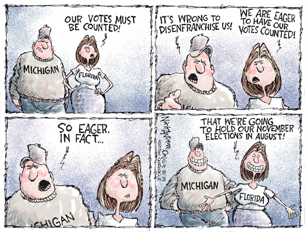 Cartoonist Nick Anderson  Nick Anderson's Editorial Cartoons 2008-03-30 presidential candidate