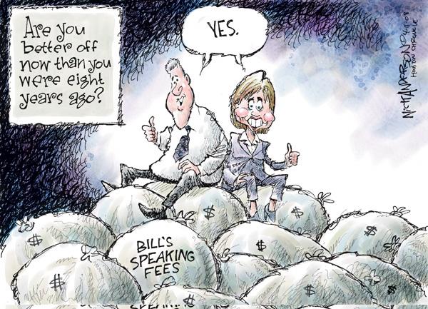 Cartoonist Nick Anderson  Nick Anderson's Editorial Cartoons 2008-04-11 Bill Clinton