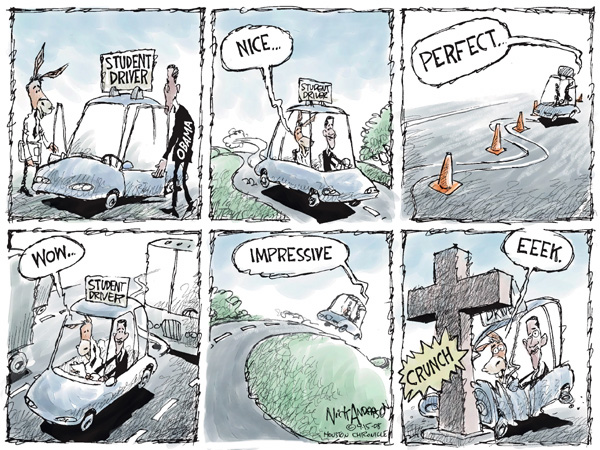 Cartoonist Nick Anderson  Nick Anderson's Editorial Cartoons 2008-04-15 presidential candidate
