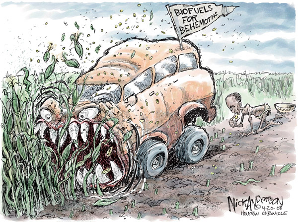 Cartoonist Nick Anderson  Nick Anderson's Editorial Cartoons 2008-04-20 automobile