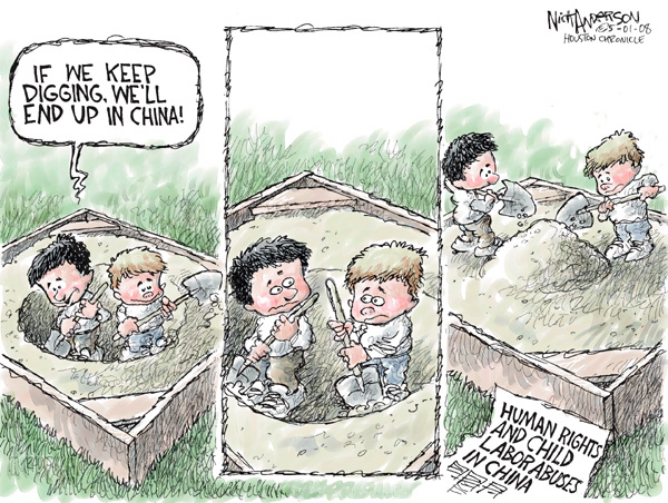 Cartoonist Nick Anderson  Nick Anderson's Editorial Cartoons 2008-05-01 child abuse