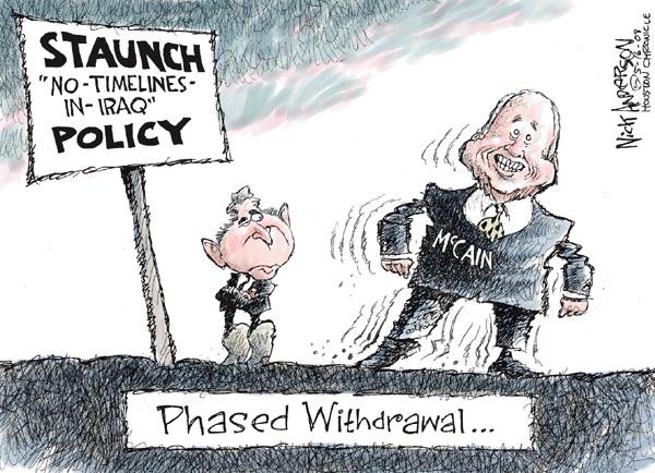 Cartoonist Nick Anderson  Nick Anderson's Editorial Cartoons 2008-05-16 withdrawal