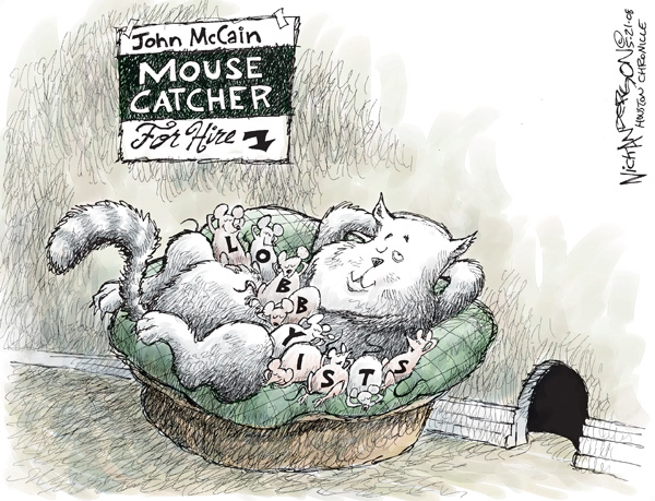 Cartoonist Nick Anderson  Nick Anderson's Editorial Cartoons 2008-05-21 presidential candidate