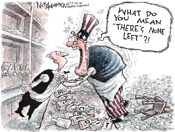 Cartoonist Nick Anderson  Nick Anderson's Editorial Cartoons 2008-05-28 addiction
