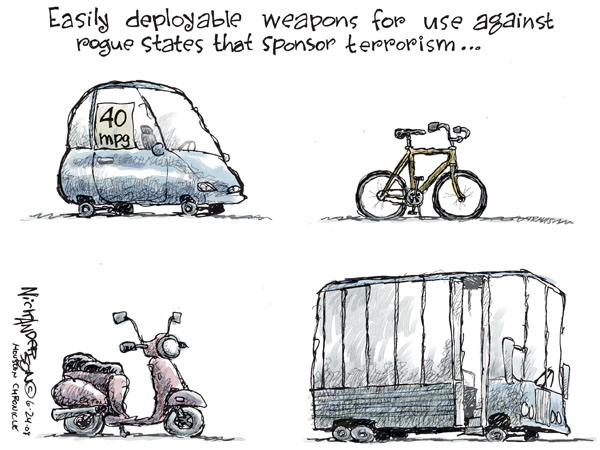 Cartoonist Nick Anderson  Nick Anderson's Editorial Cartoons 2008-06-24 weapon
