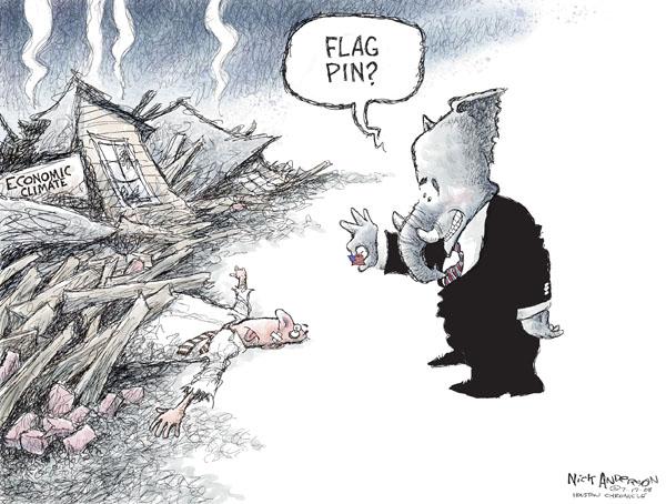 Cartoonist Nick Anderson  Nick Anderson's Editorial Cartoons 2008-07-16 patriotism