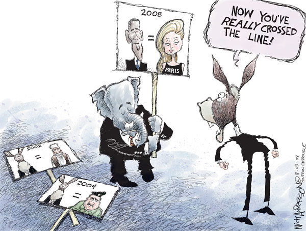 Cartoonist Nick Anderson  Nick Anderson's Editorial Cartoons 2008-08-03 star