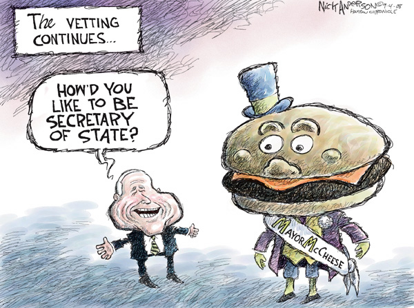 Cartoonist Nick Anderson  Nick Anderson's Editorial Cartoons 2008-09-04 presidential candidate