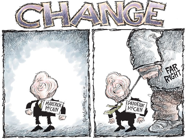 Cartoonist Nick Anderson  Nick Anderson's Editorial Cartoons 2008-09-07 presidential candidate