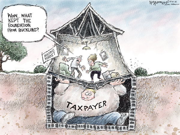 Cartoonist Nick Anderson  Nick Anderson's Editorial Cartoons 2008-09-09 tax