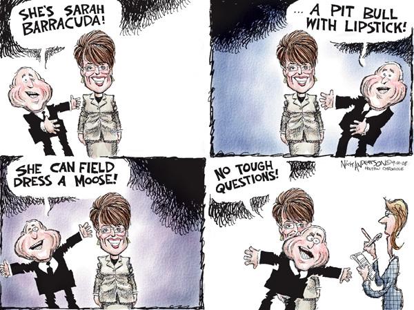 Cartoonist Nick Anderson  Nick Anderson's Editorial Cartoons 2008-09-10 question