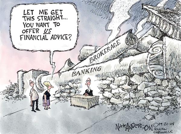 Nick Anderson  Nick Anderson's Editorial Cartoons 2008-09-21 stock market